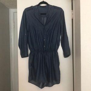 NWOT Haute Monde Denim Shorts Romper Medium Blue